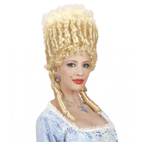 Blonde barok pruik