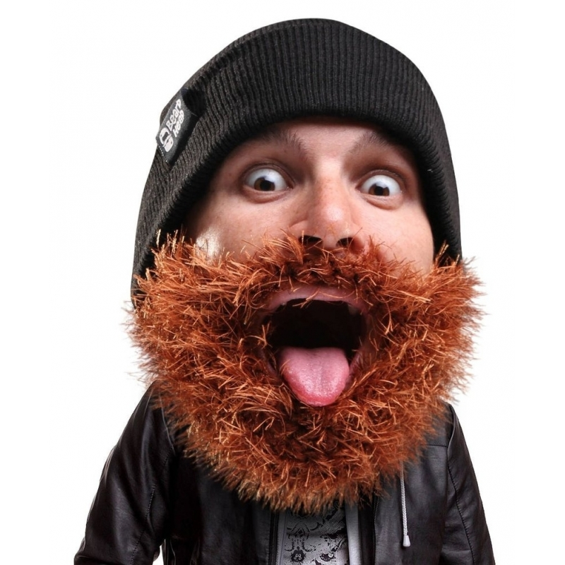 Zwarte muts met baard