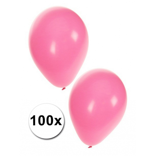 100 Baby roze geboorte ballonnen