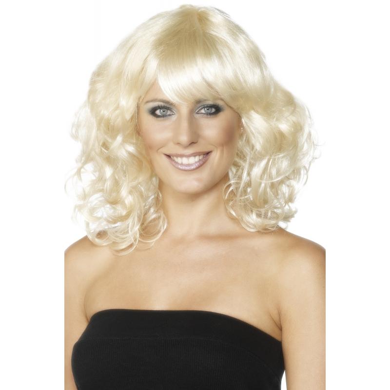 Blonde damespruiken Dolly