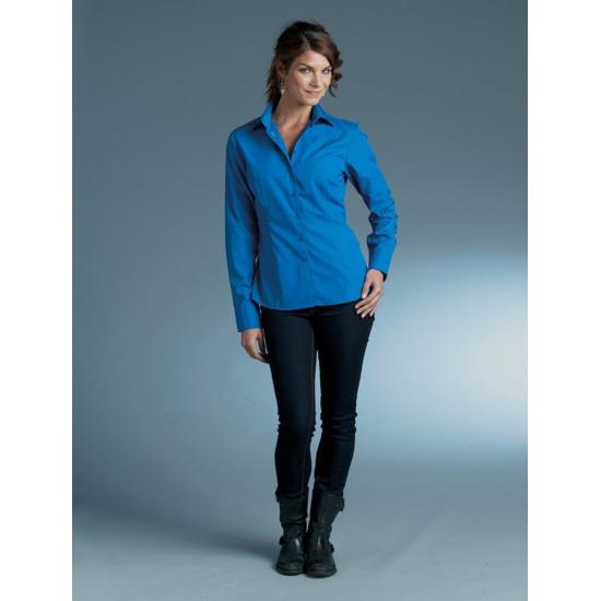 Casual Overhemd.Casual Overhemd Dames Royal Blauw Lange Mouw En Nog Veel Meer Roze