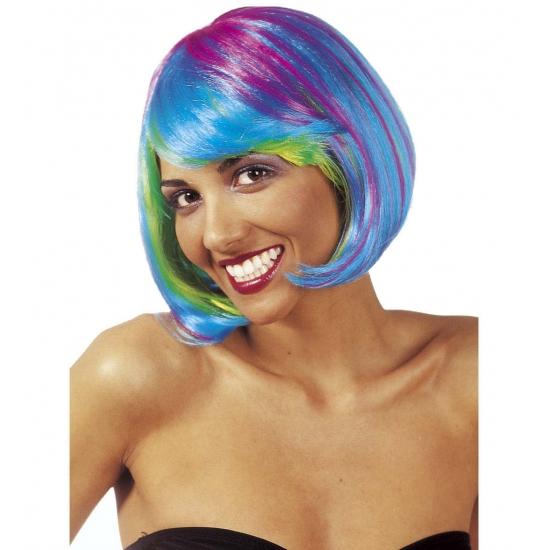 Fel gekleurde dames boblijn pruiken