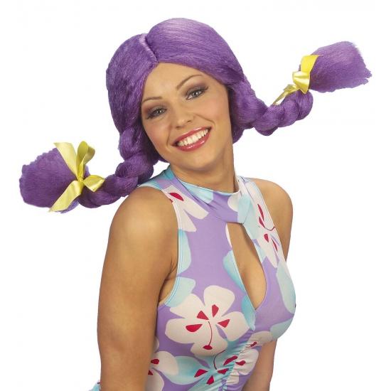 Fel gekleurde paarse Dolly pruik