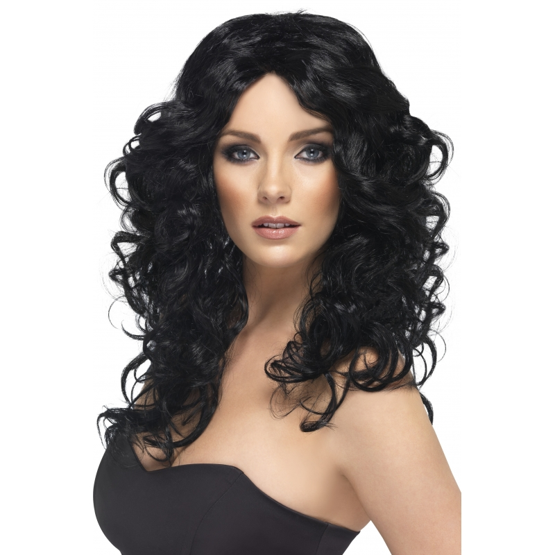 Glamoureuze dames pruik zwart
