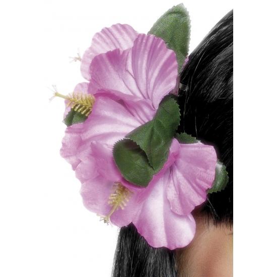 Haarbloemen met klip roze