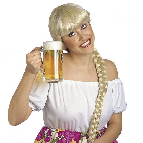 Heidi damespruik blond uit Beieren