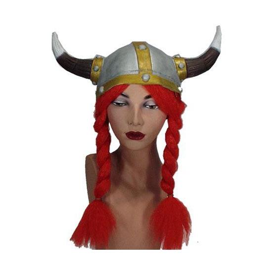Helmen viking met rode vlechten