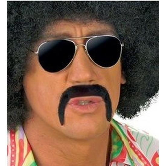 Hulk Hogan snor zwart