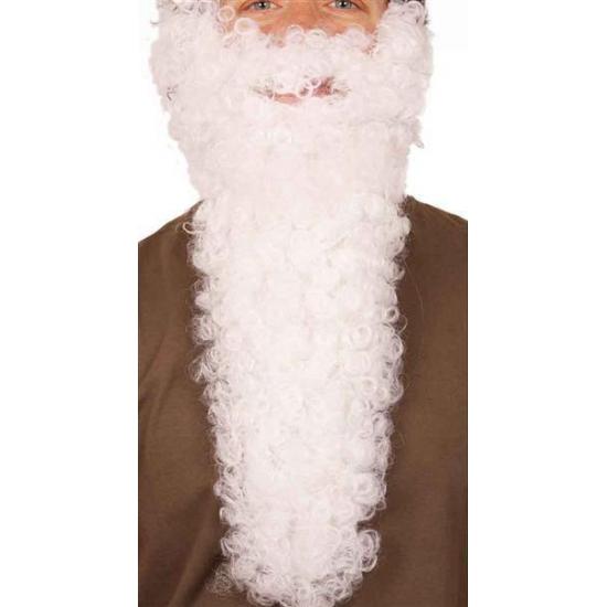 Lange Sinterklaas baard wit