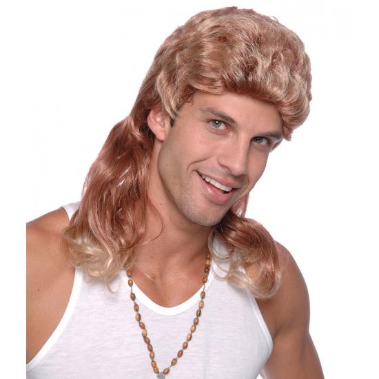 Pruik Met Lange Mat Blond