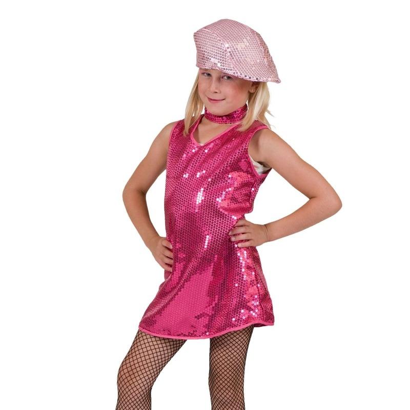 12889947736387 Roze showgirl jurk voor meisjes en nog veel meer roze artikelen