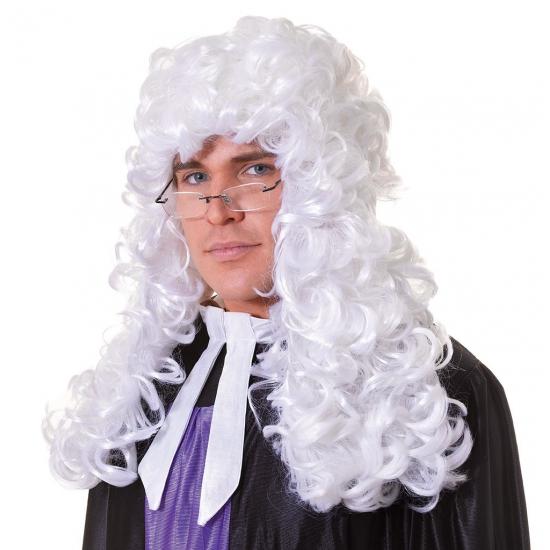 Witte krullenpruik rechter