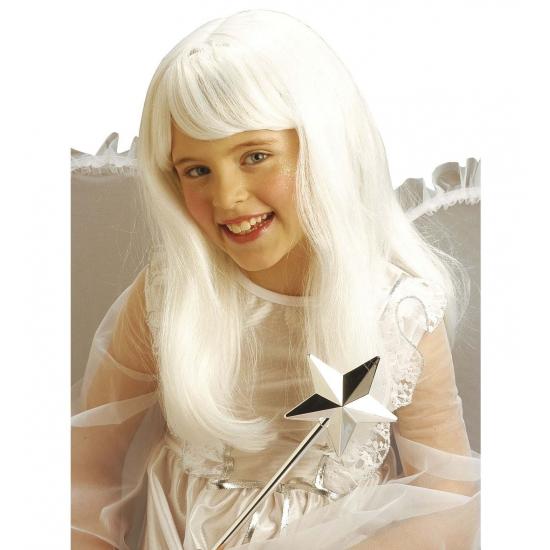 Witte lange pruiken kinderen