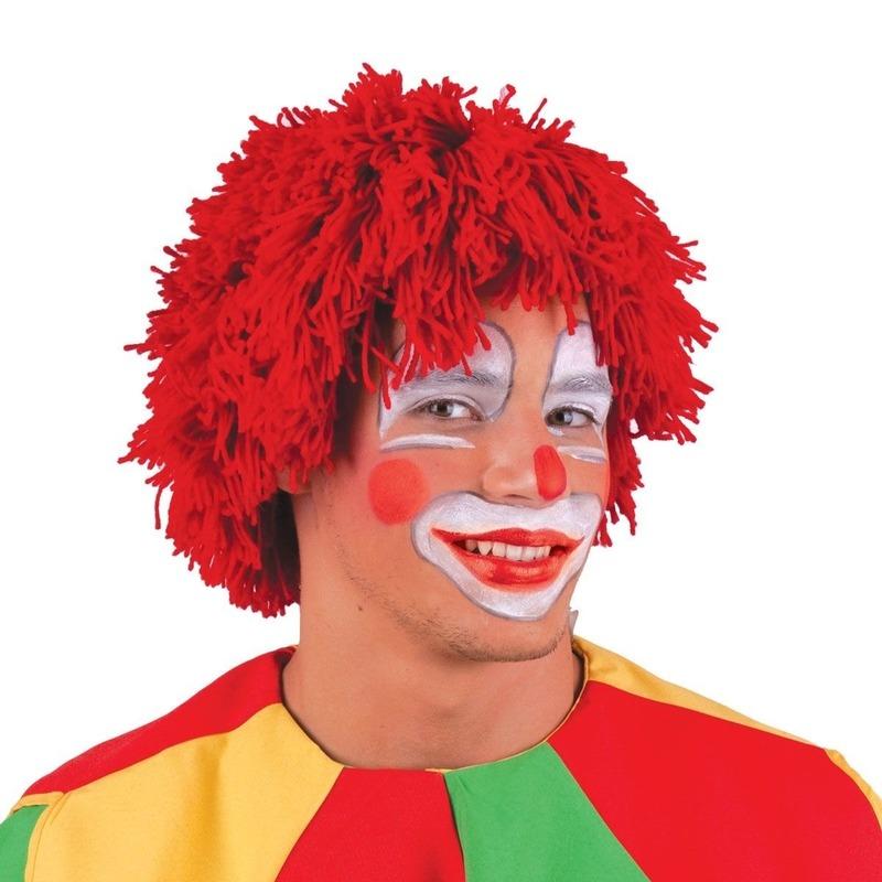 Wollen clowns pruik