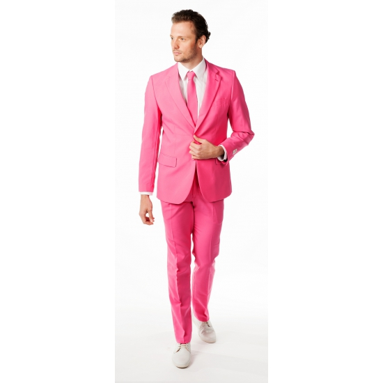 Zaken kostuum roze voor heren