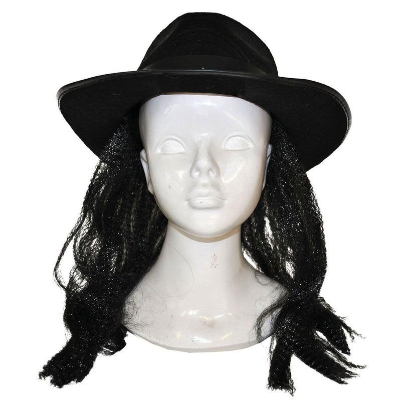Zigeuner verkleed pruik met hoed