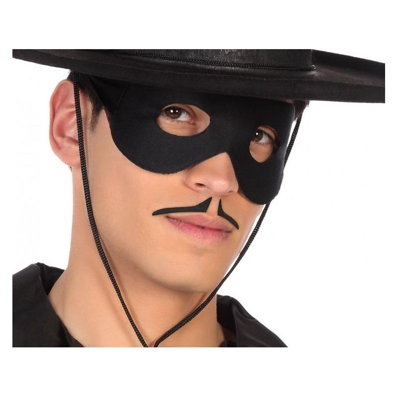Zorrosnor / potloodsnor zwart